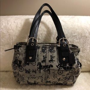 Coach Black Horse & Carriage Signature Canvas Tote